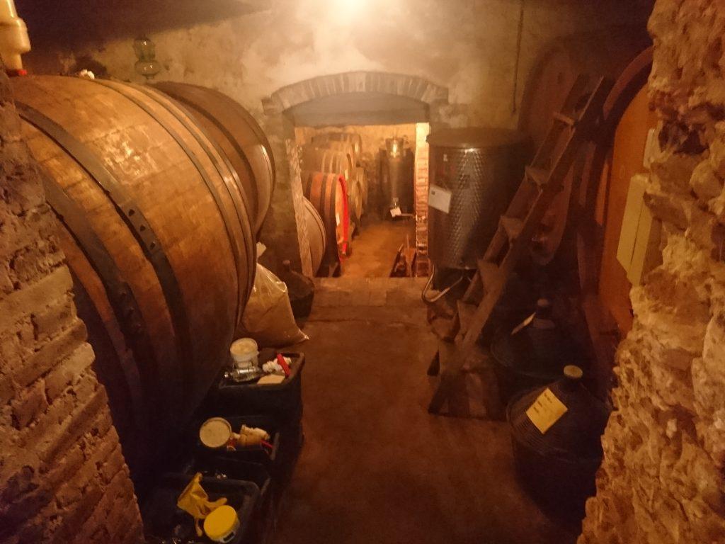 地下の醸造スペース